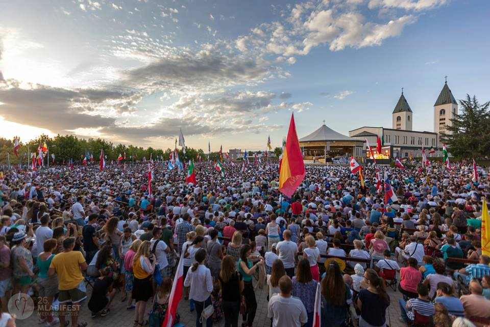 Image result for MEDJUGORJE CROWDS YOUTH DAY